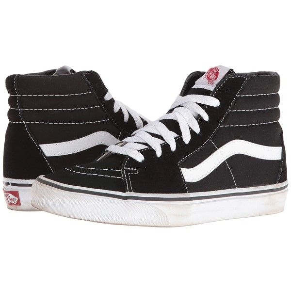 75afd968b703 Vans SK8-Hi Core Classics (Black White) Shoes ( 65) ❤ liked on Polyvore  featuring shoes