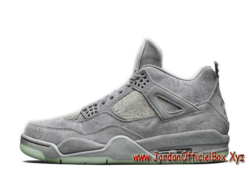 KAWS Air Jordan 4 Cool Grey 930155-003 Chaussues Officiel nike Jordan Pour  Homme Grey