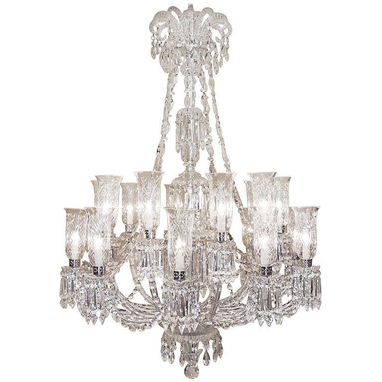 1stdibs | Monumental 1860s Rare Hand Cut Bamboo Crystal Twenty Arm Baccarat  Chandelier - Monumental 1860s - Antique Baccarat Crystal Chandelier Antique Furniture