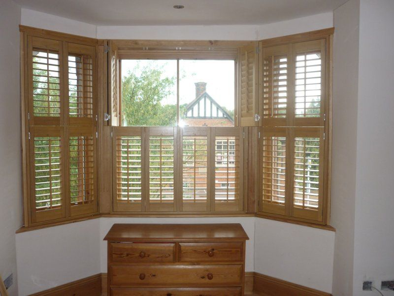 Bay Window Wood Blinds