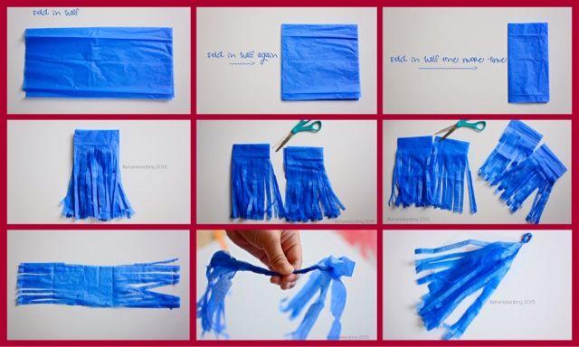 Phanessa's Crafts: Tissue Paper Tassles