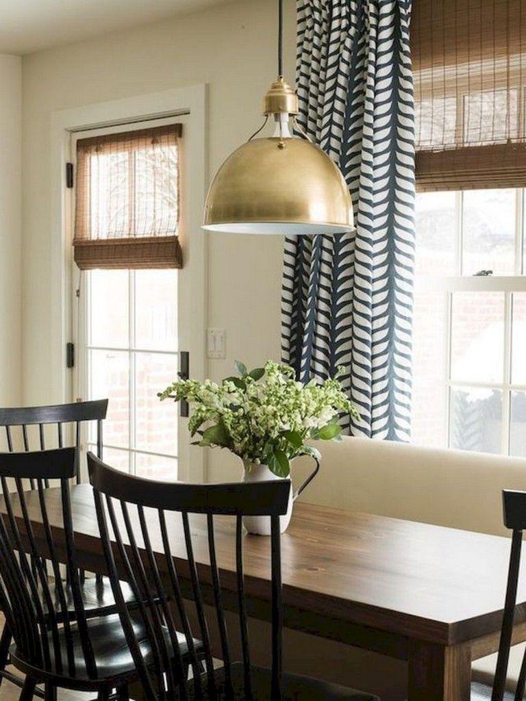70 Beautiful Farmhouse Kitchen Curtains Decor Ideas ... on Farmhouse Dining Room Curtain Ideas  id=21705