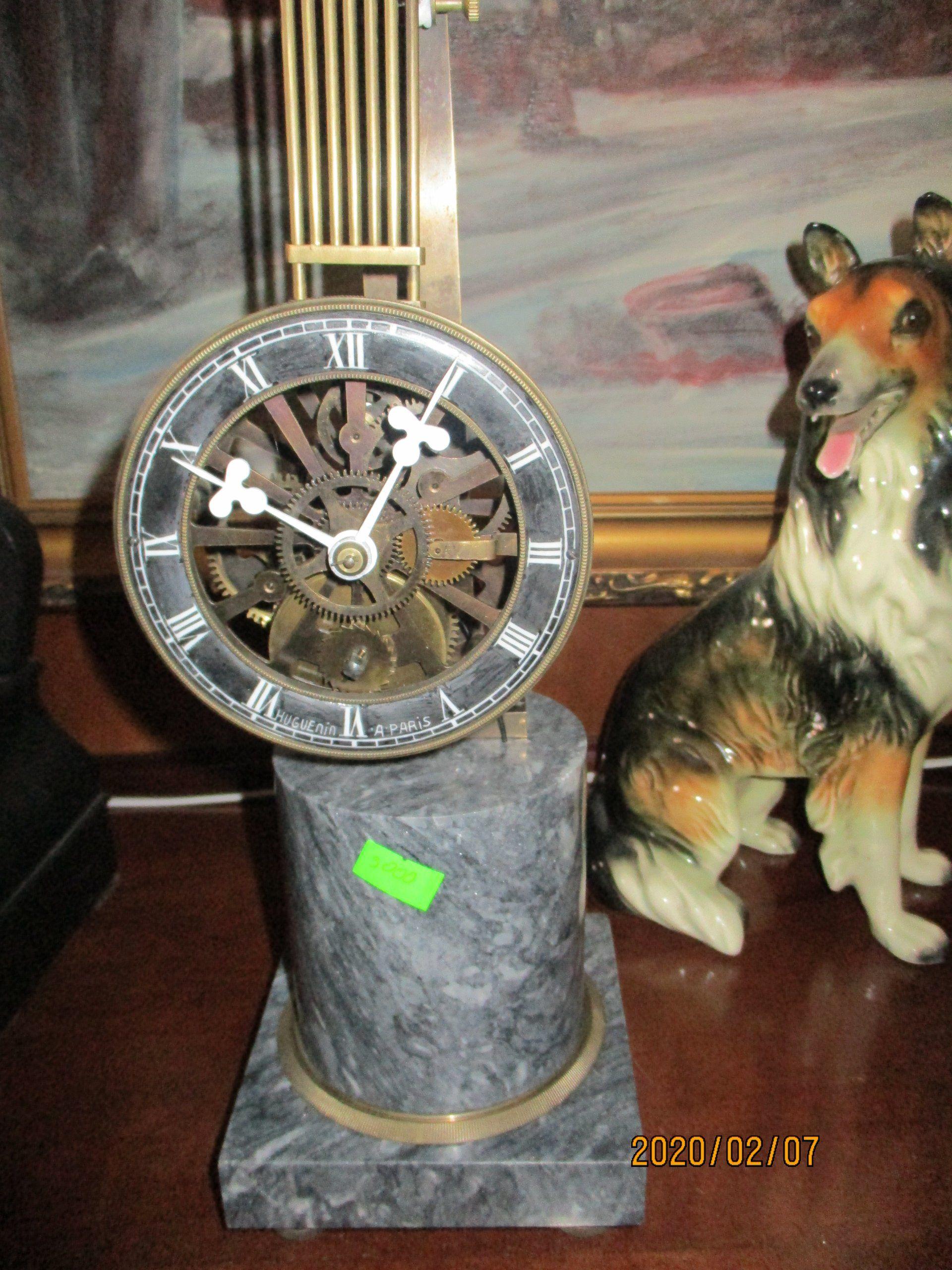 Unikatfrancuski Zegar Kiwak Z Brazu Zegary Stojące