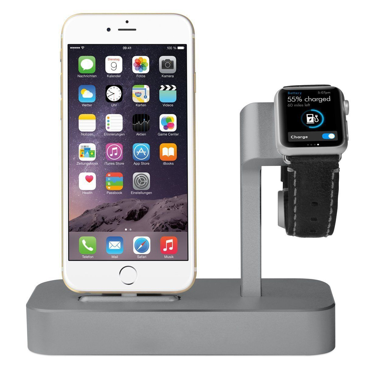 Apple watch stand iphone 6 6s plus dock itop 2 in 1
