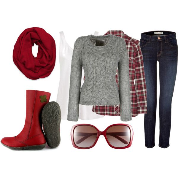 Red and gray, casual