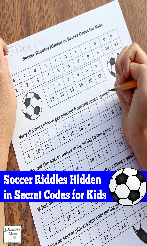 Soccer Riddles Hidden In Secret Codes For Kids Coding For Kids Printable Activities For Kids Math Activities [ 1500 x 900 Pixel ]