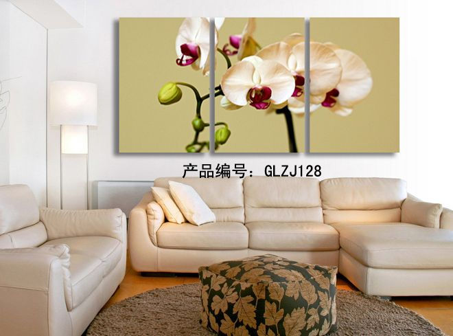 3 Piece Wall Art Painting Classic Flower Rose Canvas Prints Home ...