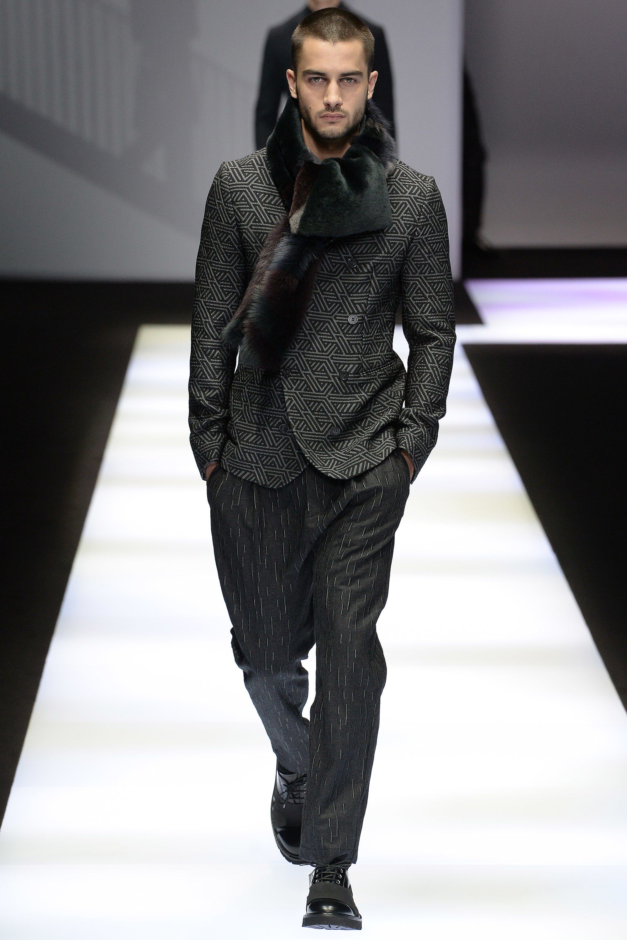 7d03a7d86c9f Emporio Armani Fall 2017 Menswear Fashion Show in 2018   Fashion man ...