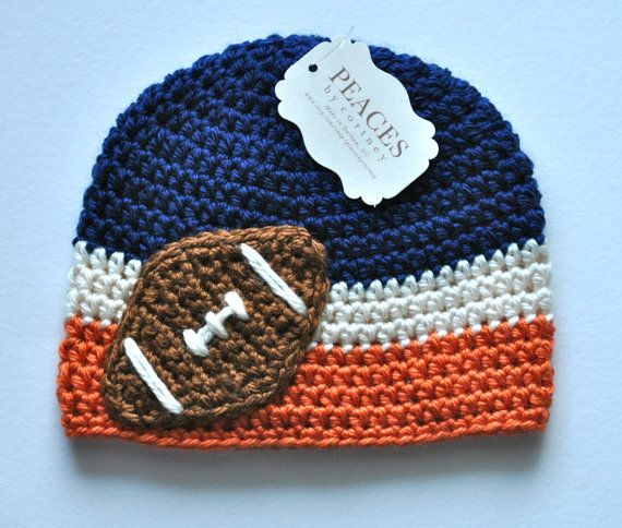4dcdf78a4 Football Beanie Denver Broncos Baby Hat by peacesbycortney