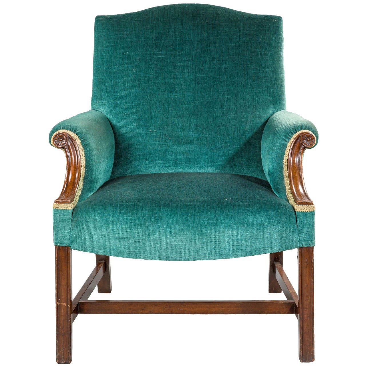 Chippendale Design Armchair | From a unique collection of antique and modern armchairs at https://www.1stdibs.com/furniture/seating/armchairs/