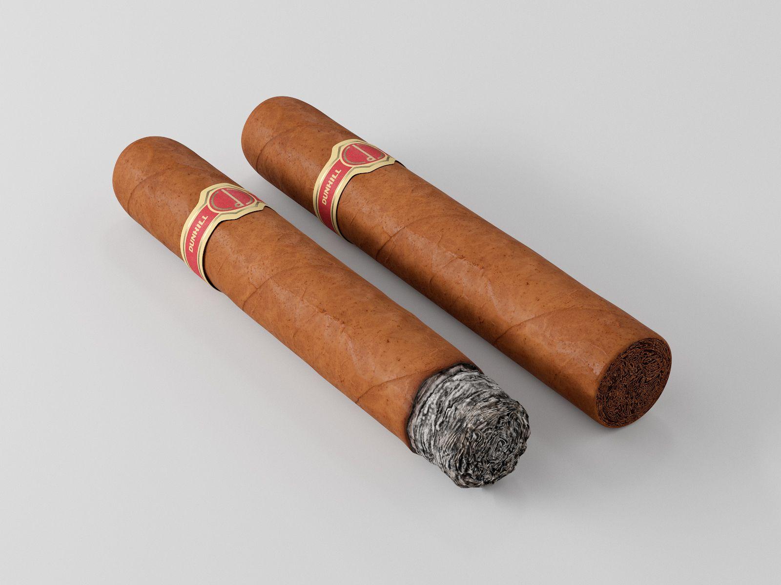Cigar Dunhill Cabinetta 3d Model Cigars 3d Model Smoke Animation