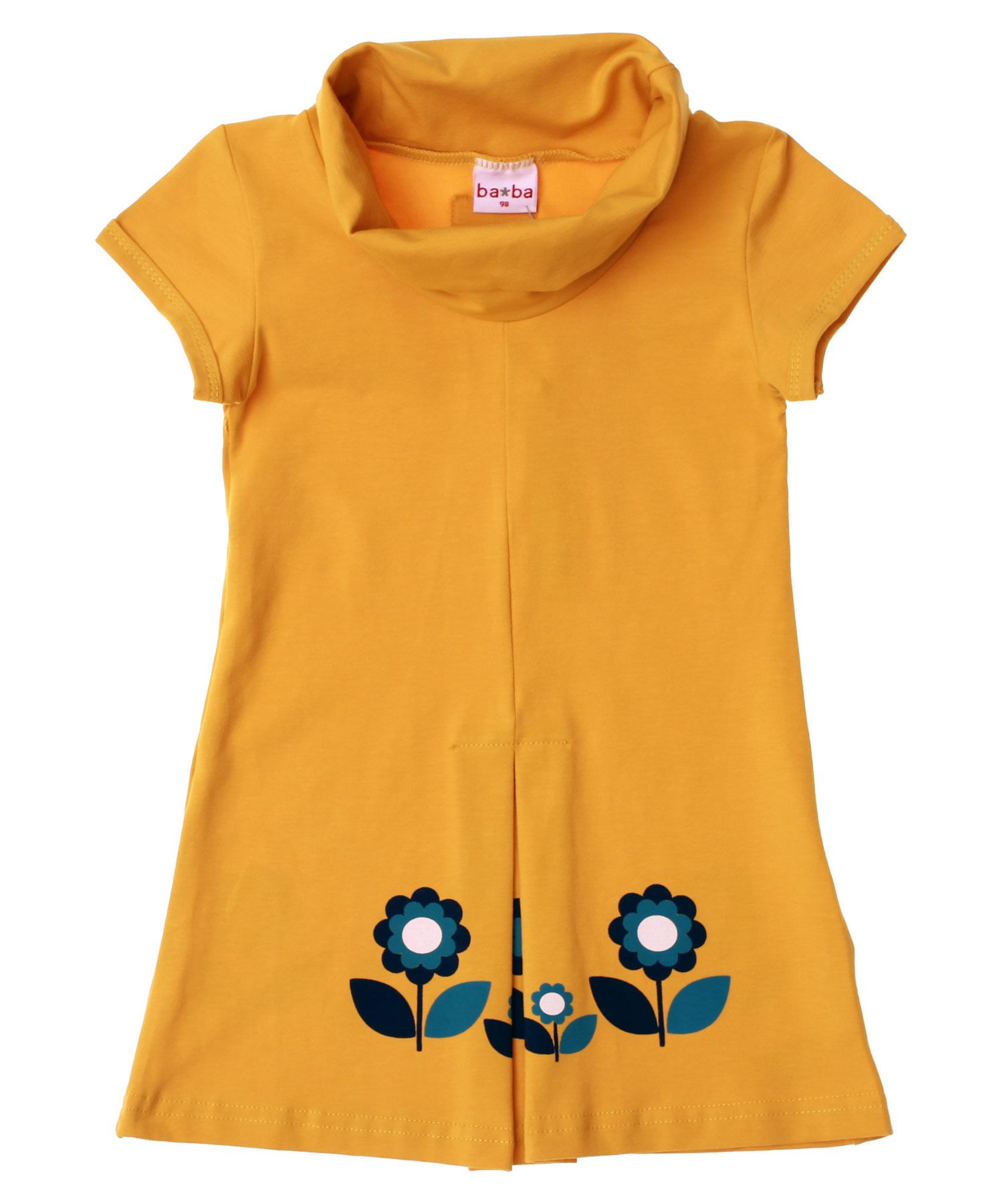 Baba Babywear Gorgeous Yellow Dress With Collar And Little