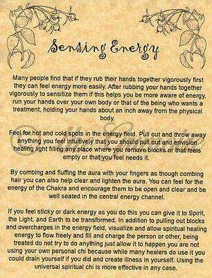 Sensing energy