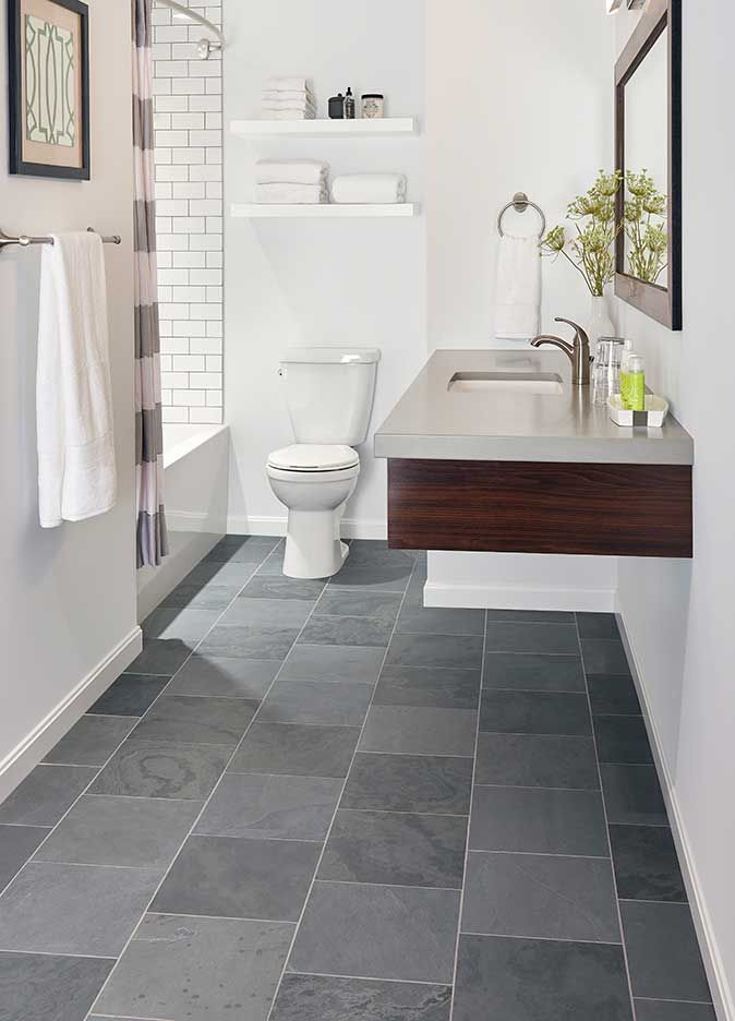 Bathroom Flooring Slate Montauk Blue For Home Slate