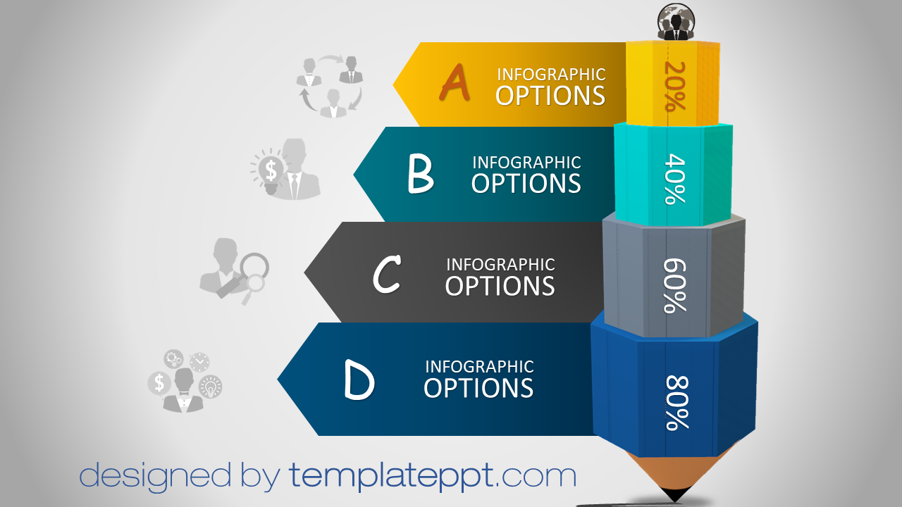 3D Animated Powerpoint Templates Free Infographic