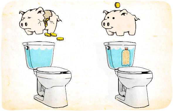 Para Reducir El Volumen De Agua En Cada Vaciado Del Inodoro Coloque Una Botella Llena De Agua O Arena En El Tanq Inodoro Pinzas De Ropa Como Lavar Ropa Blanca
