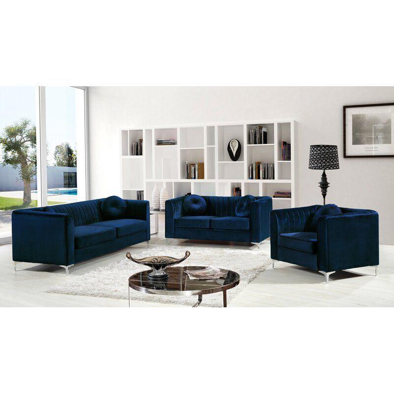 Herbert Configurable Living Room Set Velvet Living Room Living Room Sets Furniture Velvet living room set