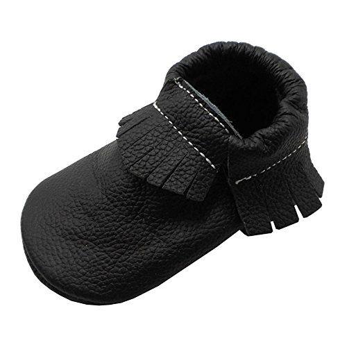 Mejale Baby Infant Toddler Shoes Anti-Slip Soft Sole Leather Moccasins Pre-Walker