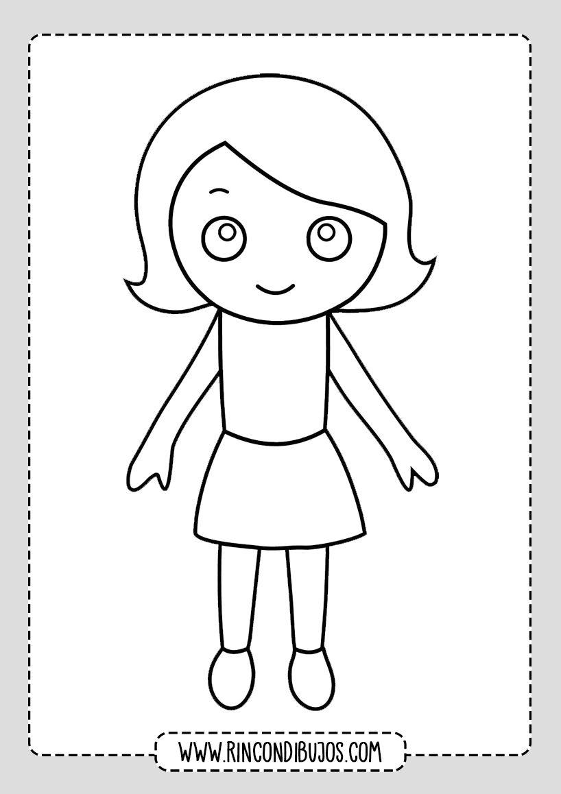 Dibujos De Ninas Para Colorear Rincon Dibujos Dibujos Para Ninos Ninos Dibujos