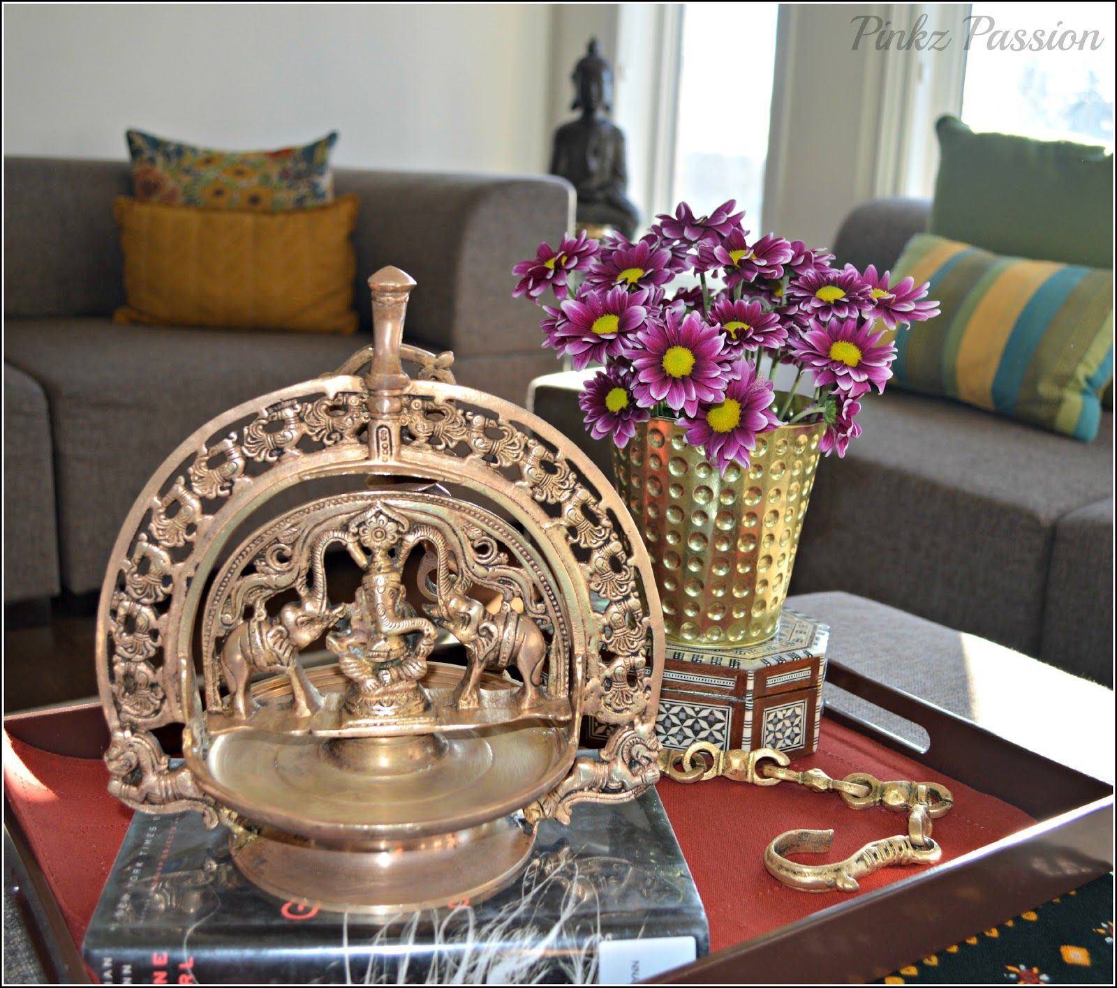 Desi Twists On Coffee Table Traditional Coffee Table Decorating Coffee Tables Indian Inspired Decor