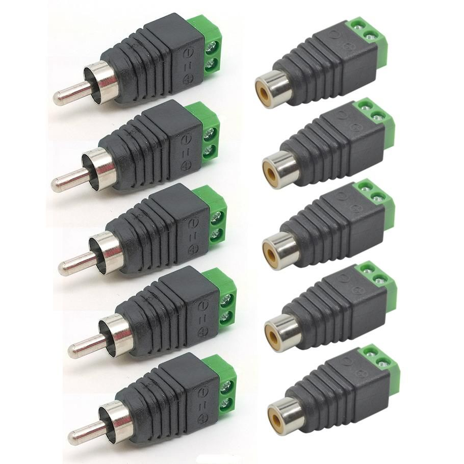Visit to Buy] 10 pcs Speaker Wire Cable High Quality To Audio Male + ...