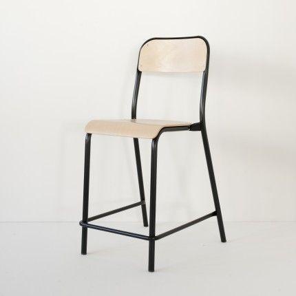 Chaise du0027école haute noire Dining chairs