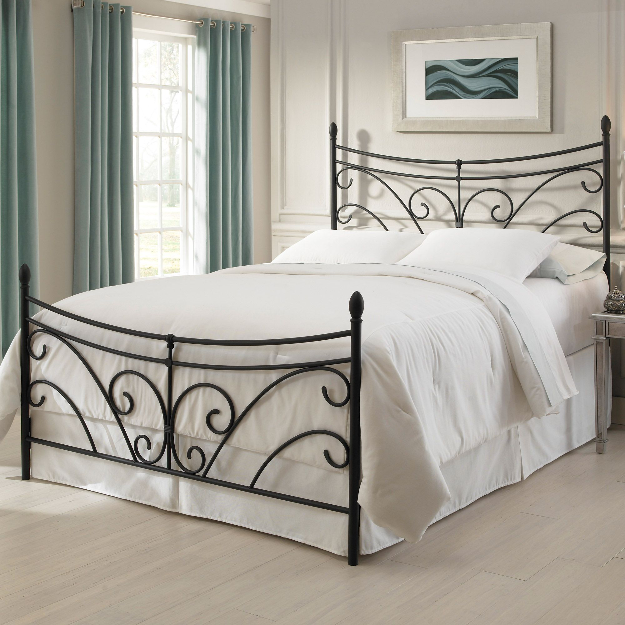 Overawe Wrought Iron Headboard With White Bedding | Headboards ...