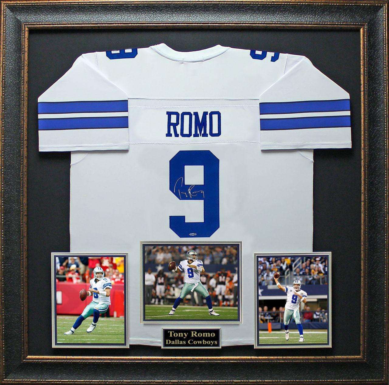 524dd652a ... Signature Royale - Tony Romo Signed Dallas Cowboys Jersey Framed  Display dallascowboys. cowboynation