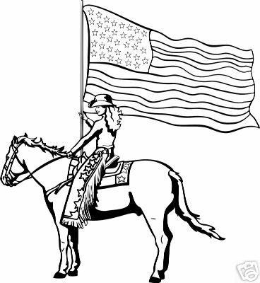 Rodeo Horse Flag Decal 13 Wr Rodeo 6 Sticker Ebay 4h