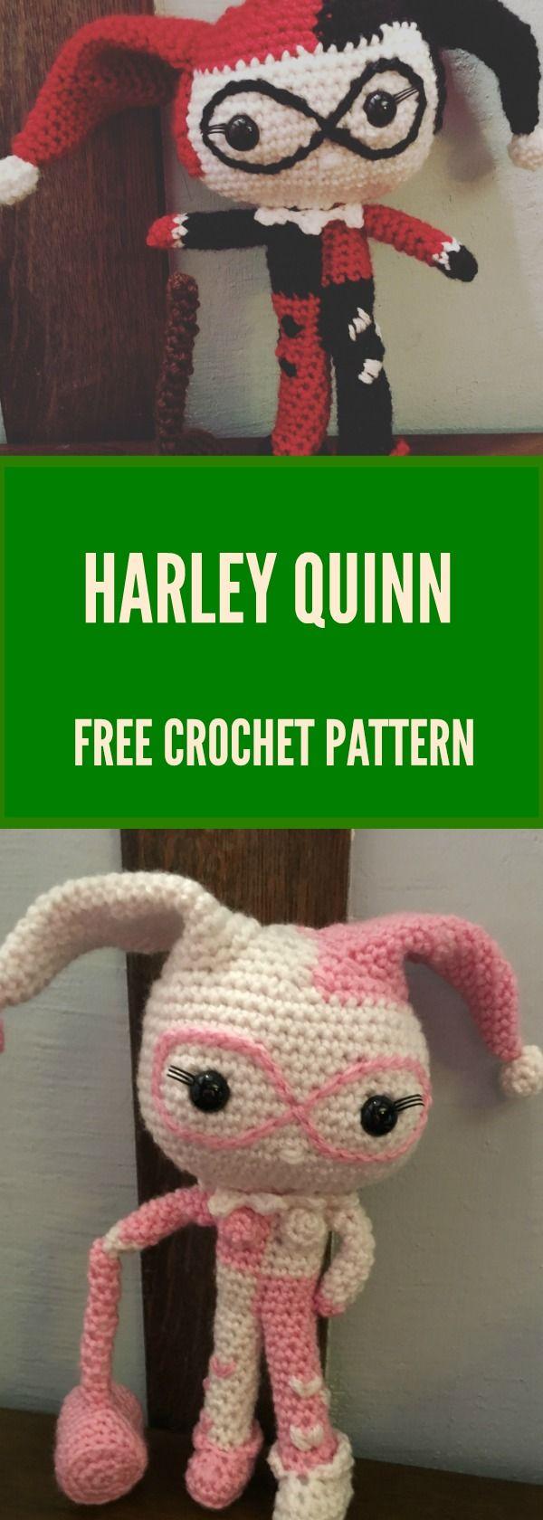 Drunken Aunt WendyPink and White Harley Quinn – Free Pattern   Häkeln