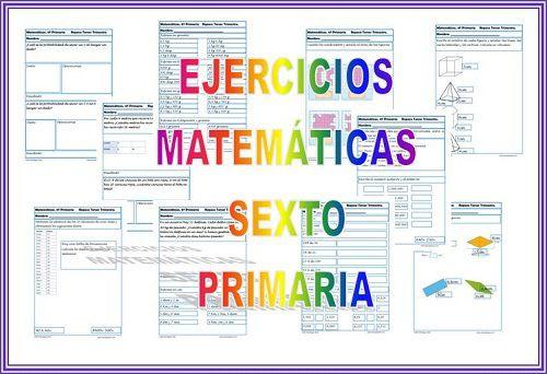 Ejercicios De Matemáticas Fichas Para Sexto De Primaria Math Teaching Learning