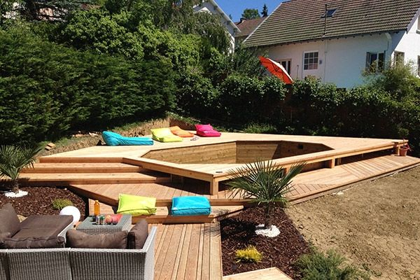 piscine bois olivier journet lons blettrans jura louhans 39 awesome amenagement piscine hors sol terrasse - Amenagement Piscine Hors Sol Bois