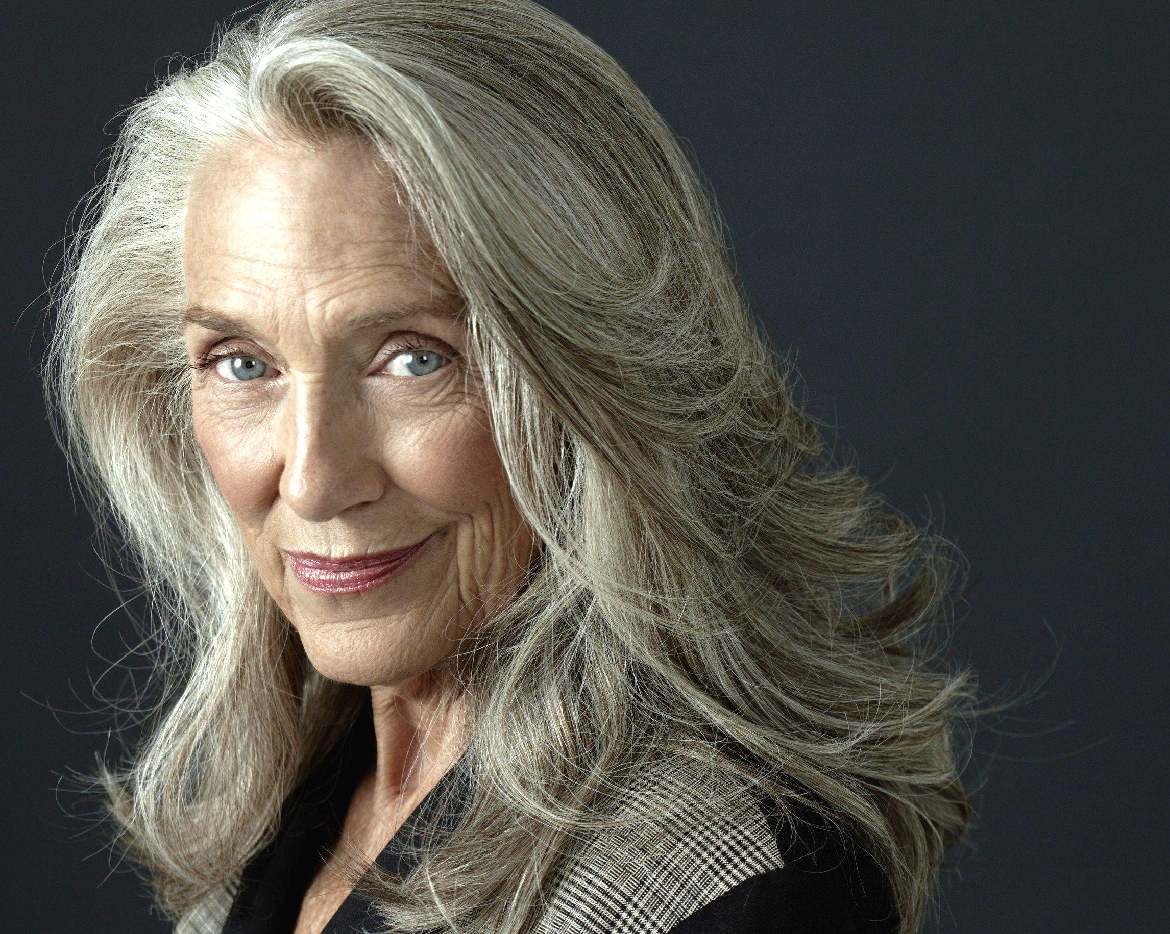Pia Gronning Google Search Long gray hair, Beautiful