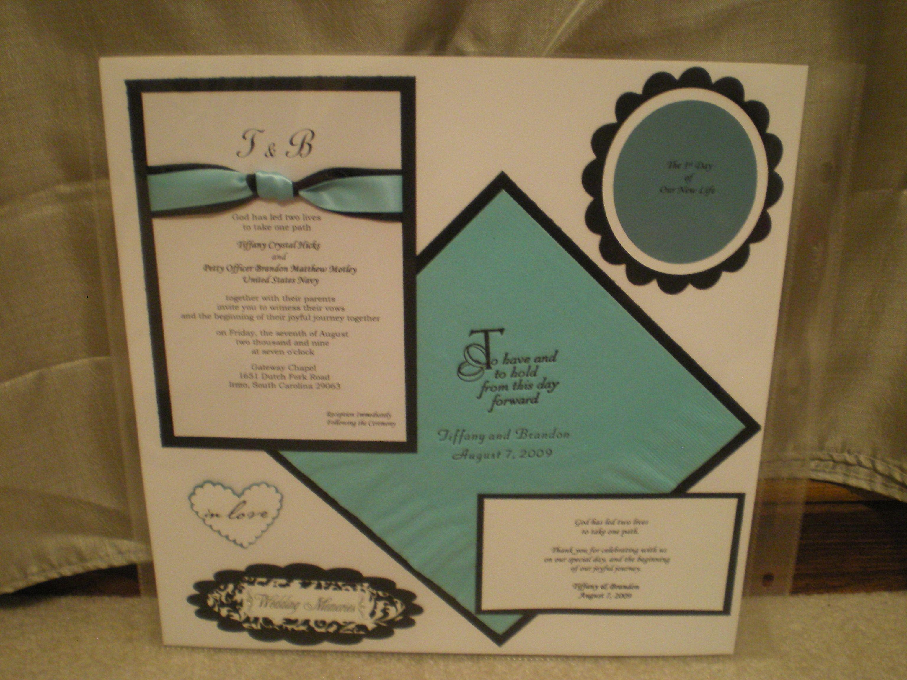 Our Wedding Invitation - Scrapjazz.com | Wedding & Anniversary ...