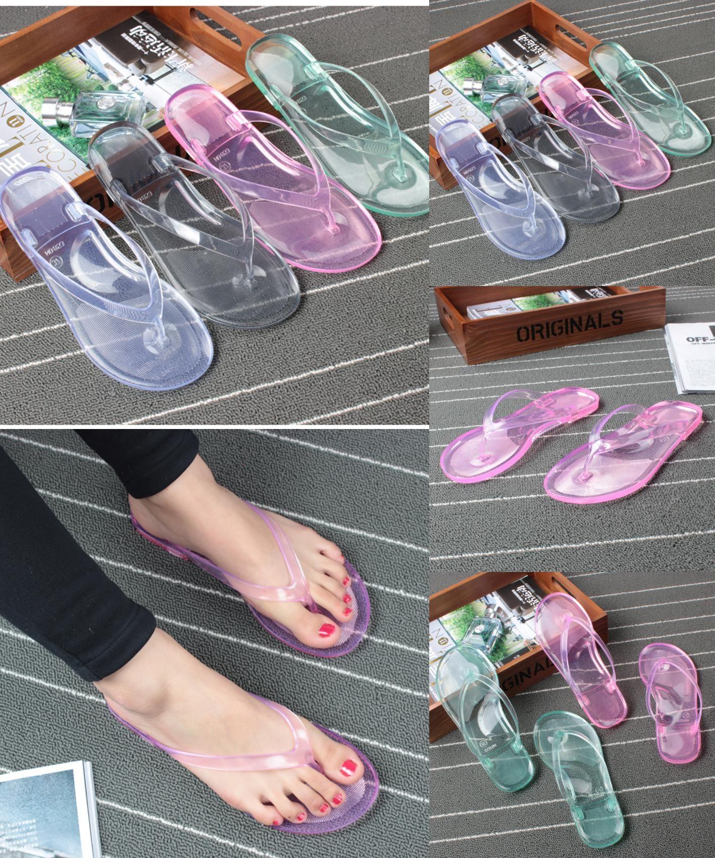 e3c1f95b7d21 [Visit to Buy] BIGTREE New Stylish Soft Summer Slippers Women Jelly  Transparent Crystal Bathroom Anti-slip Womens Shoes Flip Flops 4.8 TXJ  #Advertisement
