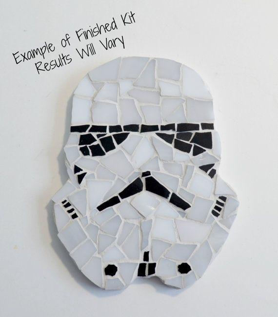 Star wars inspired mosaic kit by brokenartmosaic storm trooper diy storm trooper diy do it yourself mosaic kit by brokenartmosaic available on etsy solutioingenieria Choice Image