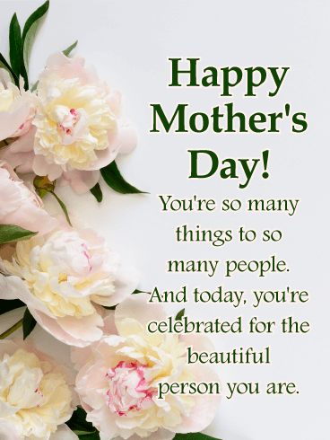 To A Beautiful Mother Happy Mother S Day Card Birthday Greeting Cards By Davia Happy Mothers Day Wishes Happy Mothers Day Images Happy Mothers Day Pictures
