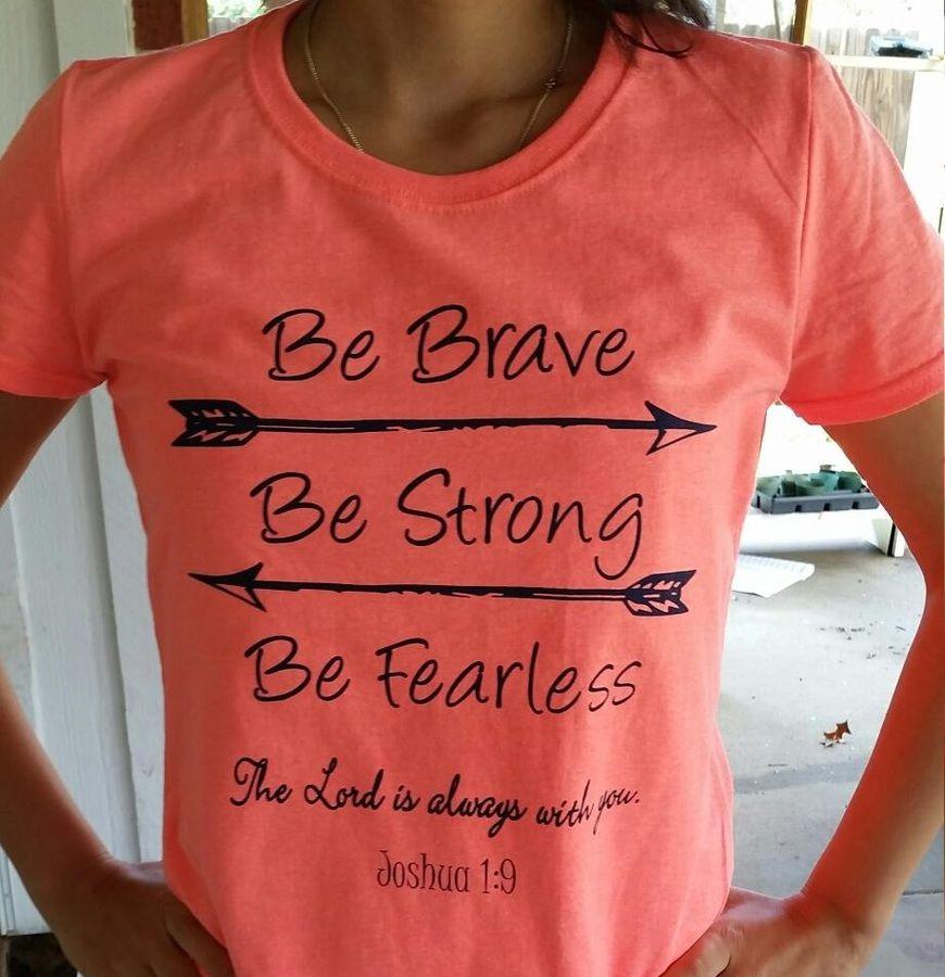 Catholic t shirt be brave catholic t shirt clothes for Travel t shirt design ideas