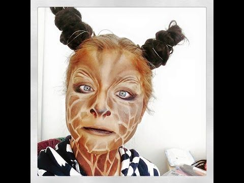 Giraffe Halloween Makeup Tutorial - YouTube   Contouring ...