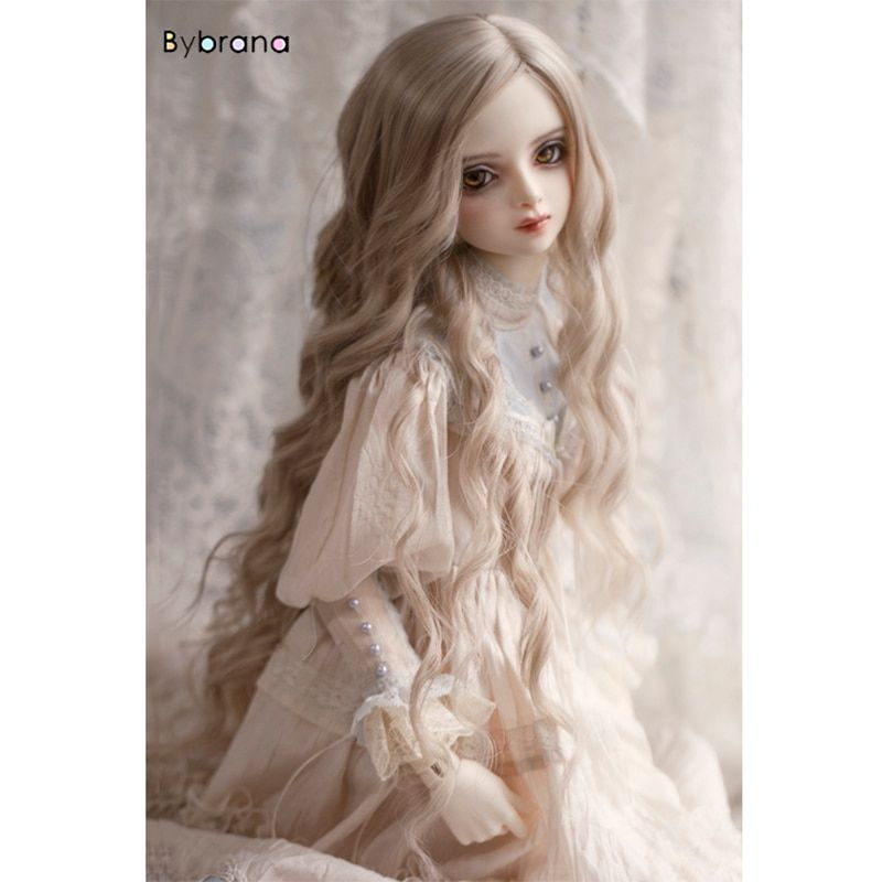 Long Gradient Color 1//3 1//4 BJD Doll Wigs for Girls DIY Dress up Supplies