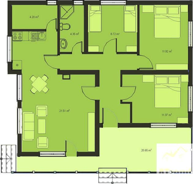 Proposed Home Design Three Bedroom House Plan Home Design Plans Bedroom House Plans