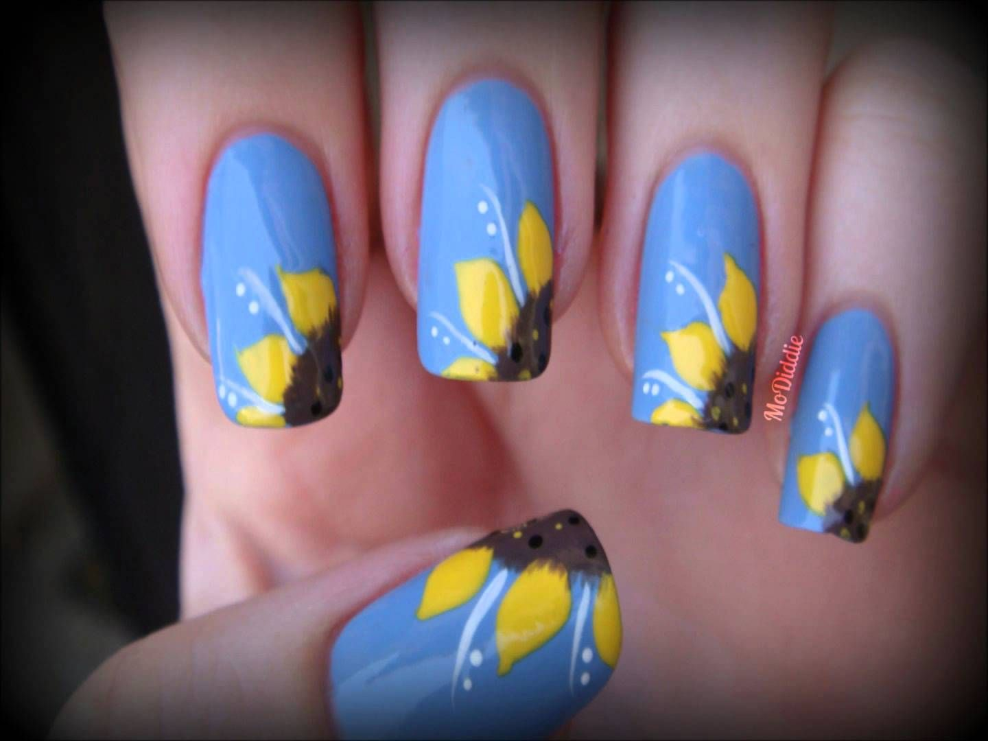 Sunflower Toe Nail Design - Nails have ended up being crucial style  accessories for ladies in today day globe. - SUNFLOWER NAIL ART TUTORIAL! Nails Art Ongles Pinterest