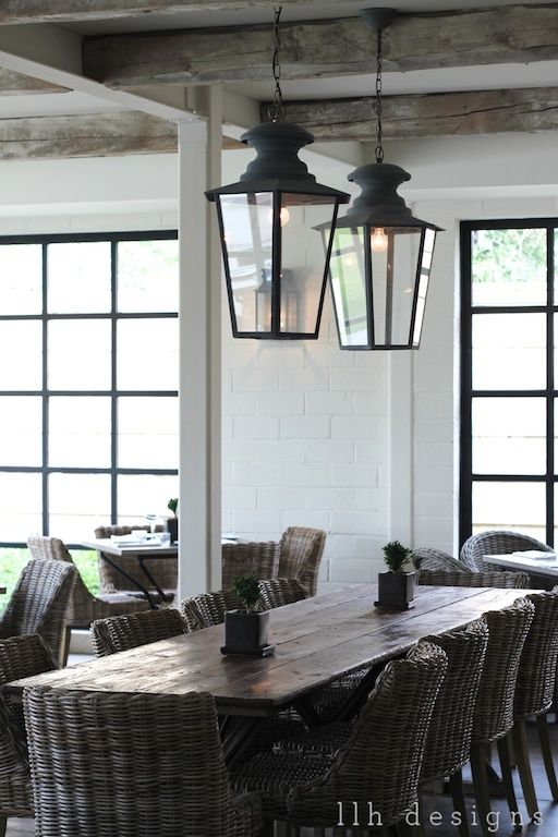 Hanging Lanterns Beach House Dining Room Indoor Dining Home