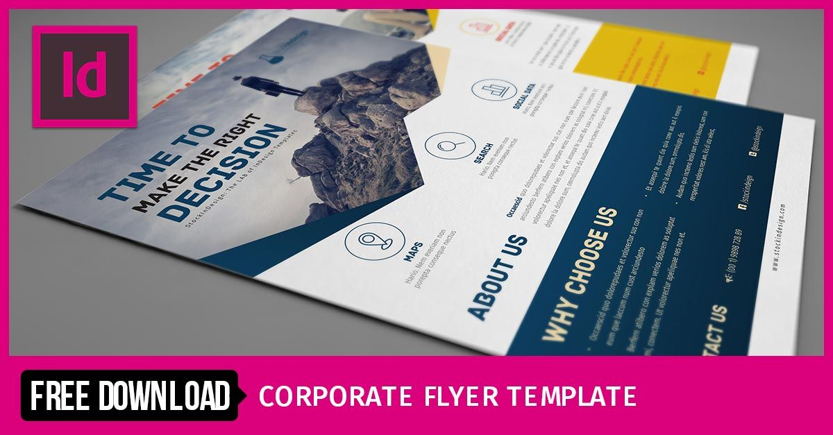 Corporate Flyer Template   Typography   Pinterest   Flyer template ...