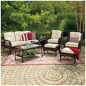 View Wilson U0026 Fisher® Barcelona Resin Wicker 6 Piece Seating Set Deals At  Big