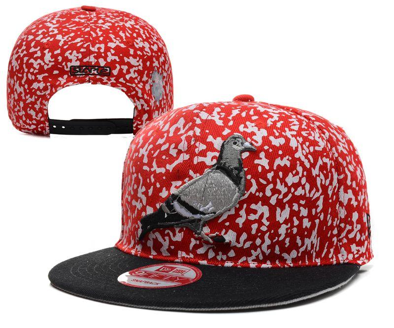 Staple Design Bellator Starter New Era Pigeon Snapback Hat Red white spots  Adjustable 015 429a2635664