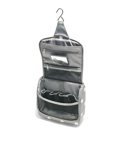 reisenthel® toiletbag grey dots: Just open the toiletry bag and hang ...