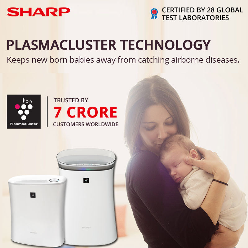 Shop Sharp Plasmacluster Airpurifier To Keep New Born Babies Away From Catching Airborne Diseases Cleanair Babyca Sharp Air Purifier Air Purifier Purifier