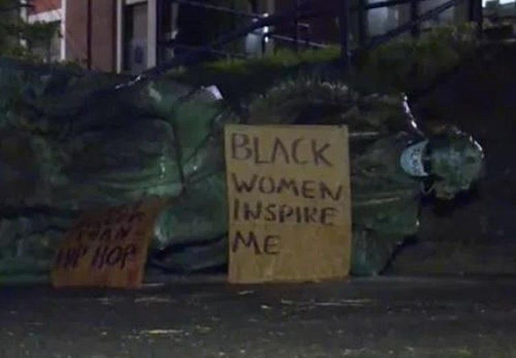 Thomas Jefferson Statue Toppled In Portland Oregon Cbs News Rap Lyrics Quotes Historical Quotes Black Lives Matter Protest