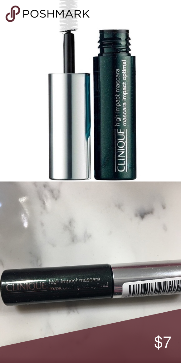 adcb07ef3d8 🆕Clinique High Impact Mascara Travel Size Clinique High Impact  Travel/Trial Size Mascara in 01 Black. Never been opened. Clinique Makeup  Mascara